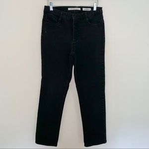Jones New York Lexington Straight Black Jeans
